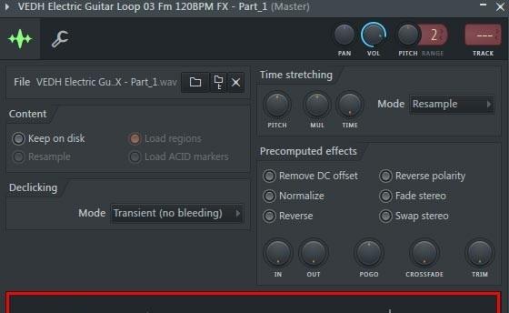 جدا سازی قسمتی از صدا و استفاده از آن به صورت مجزا چگونه می باشد ؟