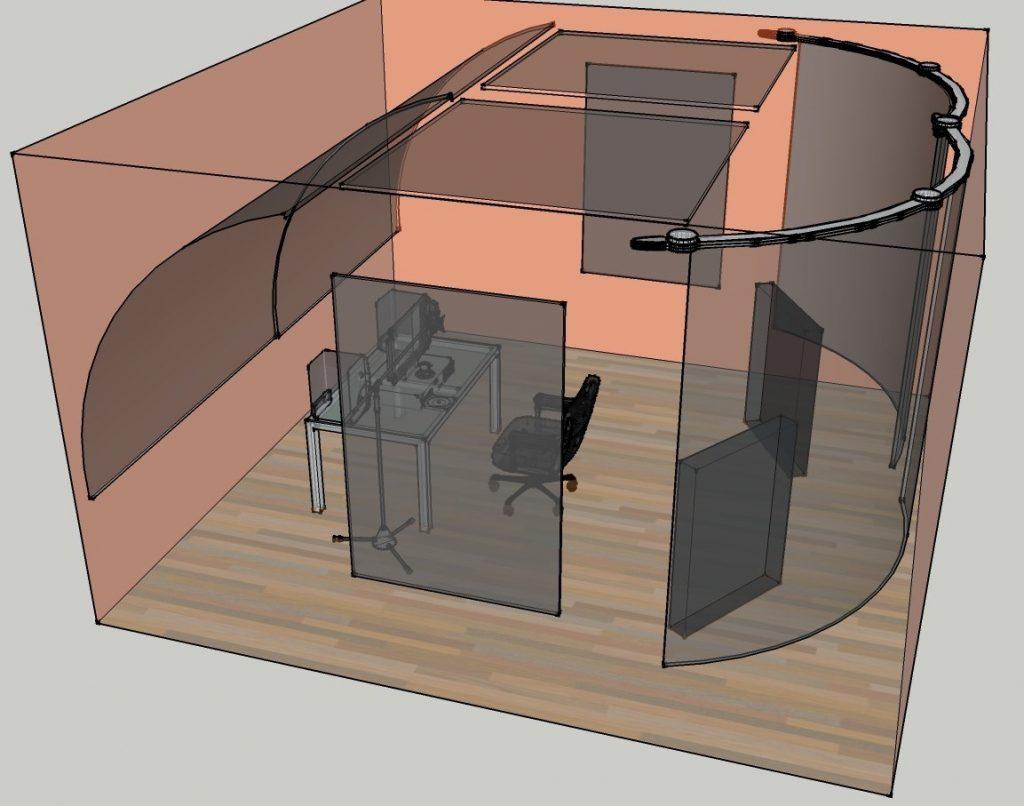 در جهت ساخت یک اتاق آکوستیک با خرج کم و ایزوله کردن نکات زیر را باید رعایت کرد: